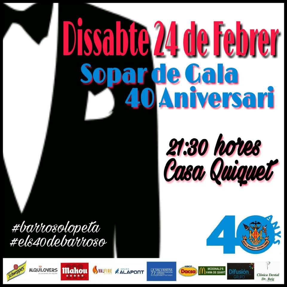 The Falla General Barroso-Litógrafo Pascual Abad celebrates its 40th Anniversary with a big gala 1