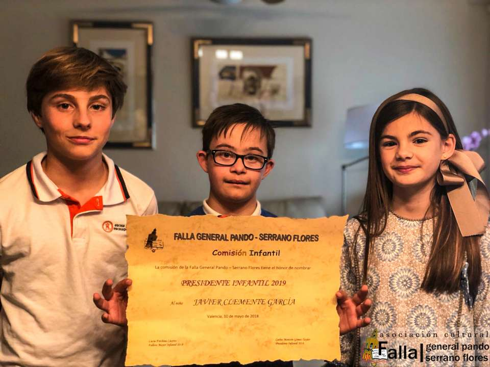 Representatives for Children of the General Falla Pando for Fallas 2019 5