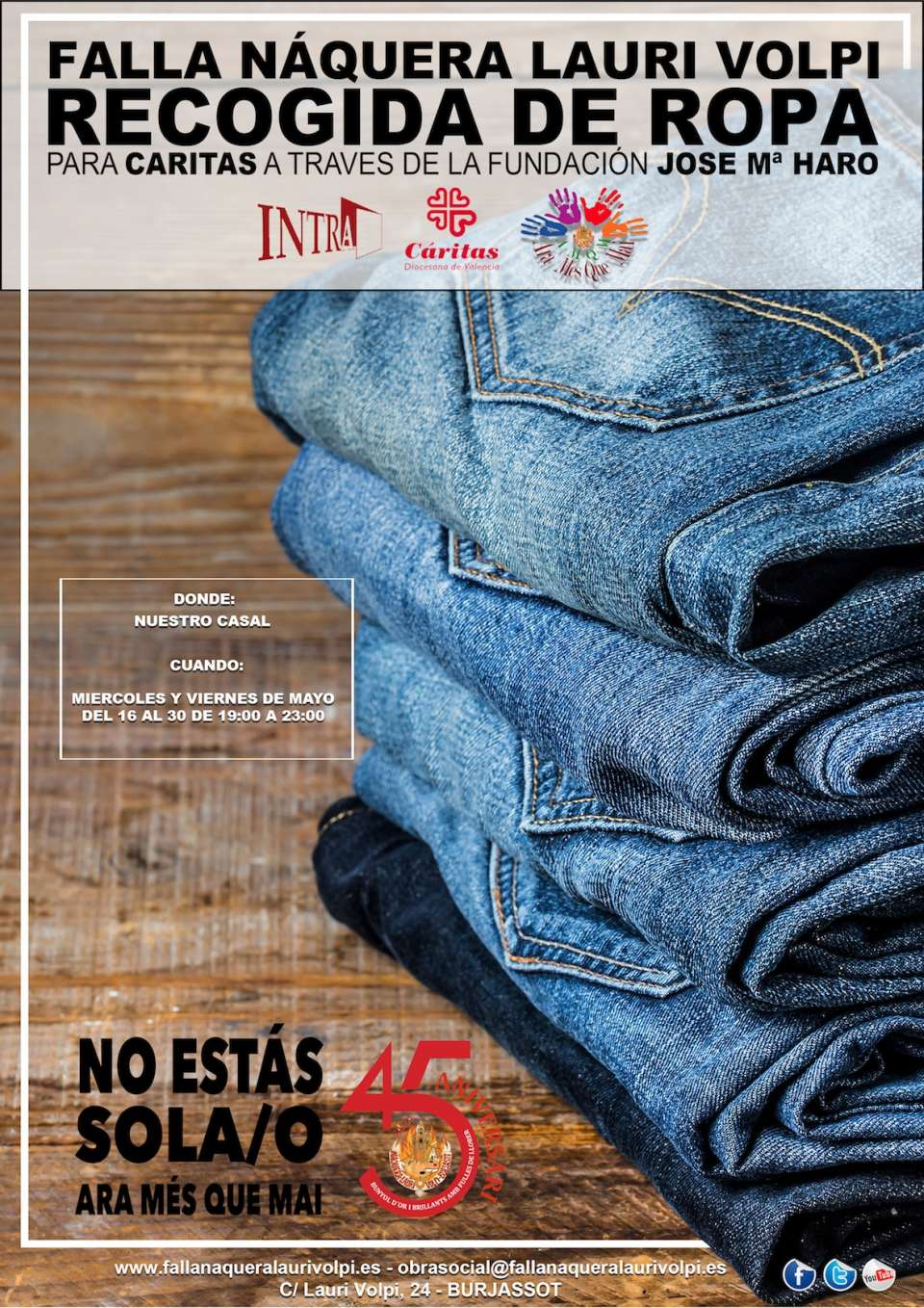 IX charity Campaign of collecting clothes of the Falla Naquera Lauri Volpi