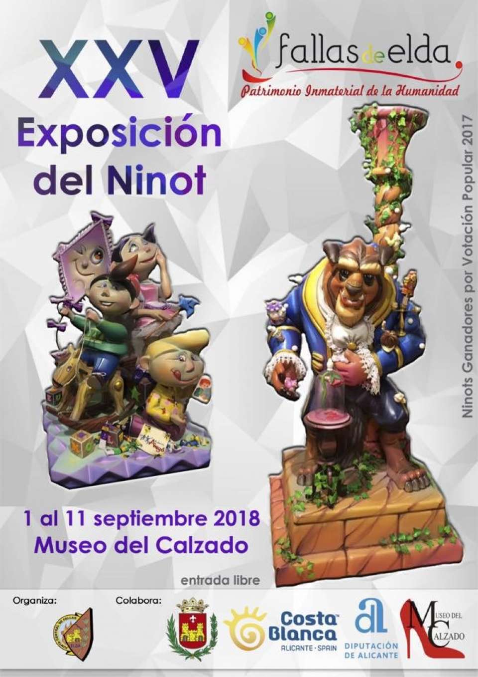 Exhibition of the Ninot and a Procession of the Fallas of Elda 2018