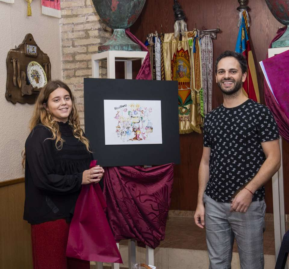Falla Kingdom of Valencia - San Valero presented their sketches to the Fallas 2019