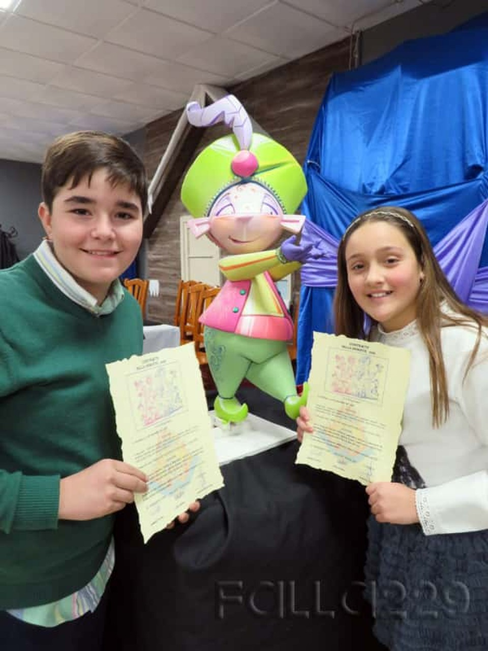 The Falla Antonio Molle-Gregorio Gea presents the sketch of child
