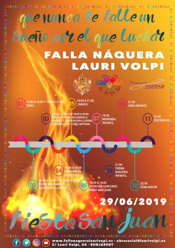 Welcome party of the Summer on the Falla Naquera Lauri Volpi