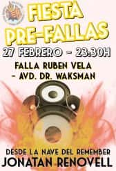 Party Pre-Fallas in the Falla Ruben Vela-Avenida Doctor Waksman