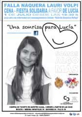 "Solidarity event of the Falla Náquera-Lauri Volpi in favor of the Association ""A SMILE FOR LUCIA'"