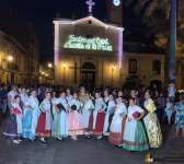 The Group Dances of the General Falla Pando participates in the festivities of Benimaclet