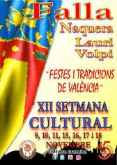 XII Cultural Week of the Falla Naquera-Lauri Volpi