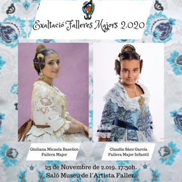 Exaltation of the Falleras Mayores 2020 of the Falla Cuenca Tramoyeres