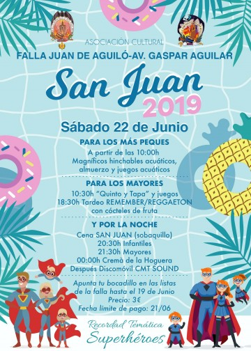 Feast of St. John 2019 in the Falla Juan de Aguiló-Gaspar Aguilar