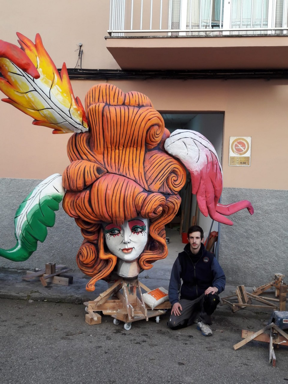 For the first time stands and will burn a Falla in Manacor