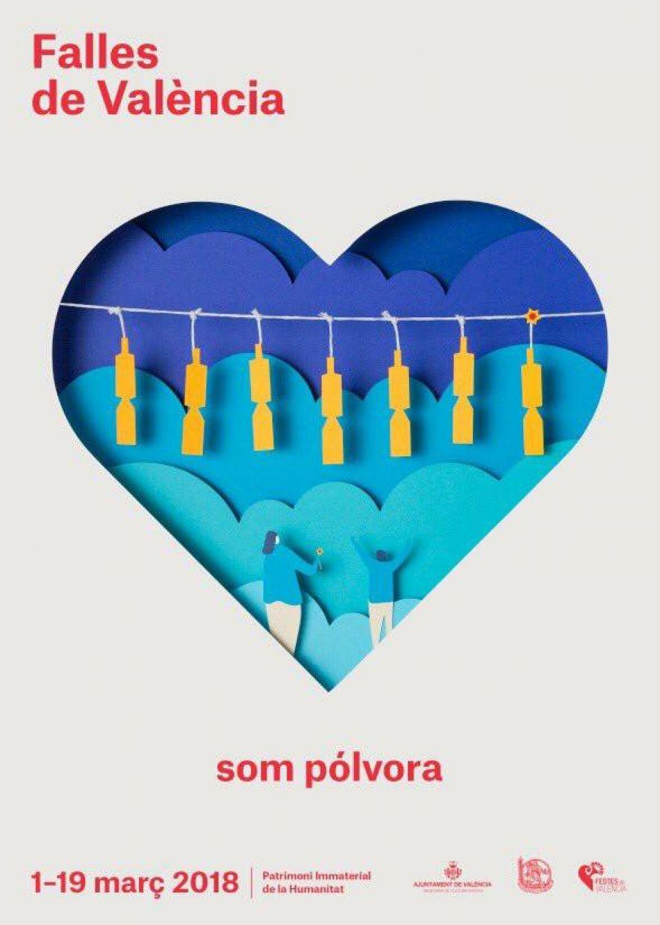 Poster Fallas 2018 Som Gunpowder