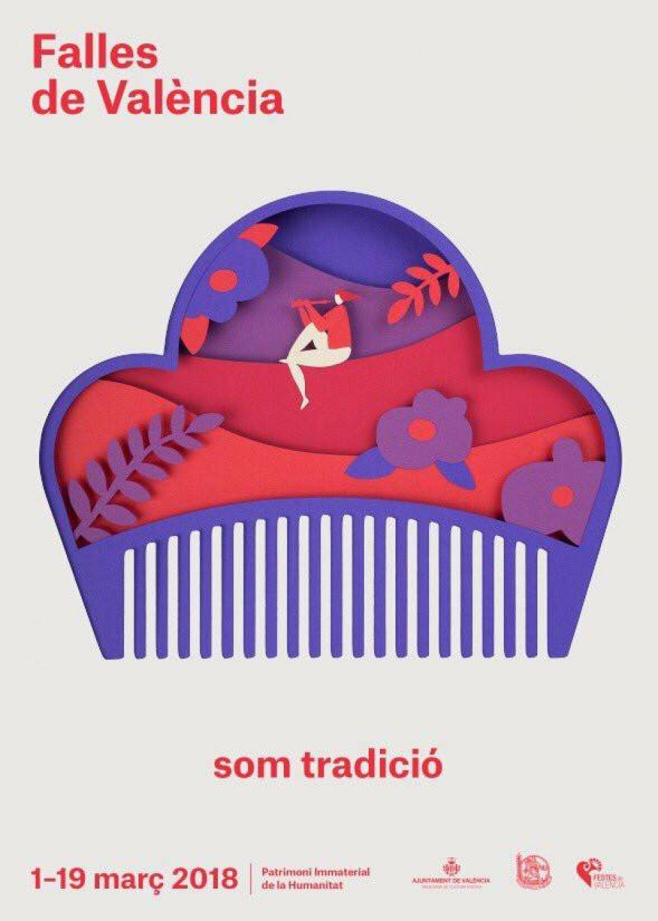 Poster Fallas 2018 Som Tradició